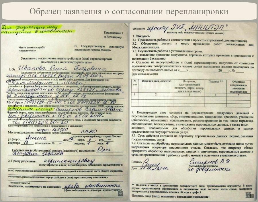 Документ - согласие соседей на установку кондиционера.